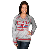 Majestic Philadelphia Phillies Women's All-Time Slugger Pullover Hoodie - Steel