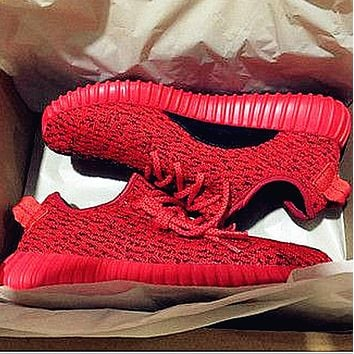 "Women Yeezy Boost ""Adidas"" Sneakers Running Sports Shoes Red"
