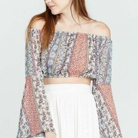 Gypsy Love Bell Sleeve Crop Top