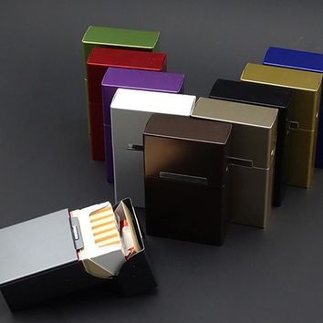 New Arrival Cigarette Case Box Metal 20 Pieces Cigar Cigarette Tobacco Holder Storage Case Pocket Box Gift for Men