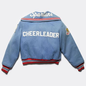 Free People Vintage 1960s Cheer Letterman Jacket