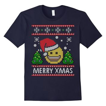 Christmas Emoji shirt Smiling Face With Open Mouth