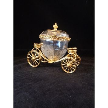 Franklin Mint Gold Plated Cinderella Carriage