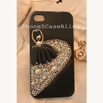 iPhone 4 Case, iPhone 4s Case, iPhone 5 Case, cute iphone 4 case, Bling iPhone 4 case, Cute iPhone 5 case, iPhone 5 bling case, ballet girl