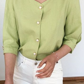 Boca Pintuck Blouse