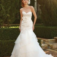 Casablanca Bridal 2043 Layered Wedding Dress