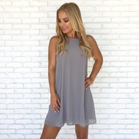 Effortless Shift Dress in Grey
