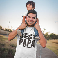Fathers Gift - Best Papa T Shirt, Dad Gift - Best Father Tee Shirt, Mens Graphic Tees with Sayings, Husband Gift, Daddy shirt