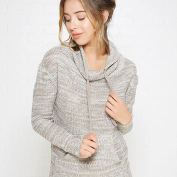 Cowl Neck Marled Pullover Sweater | Wet Seal