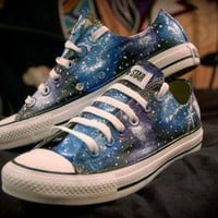 DCCKGQ8 blue and purple galaxy shoes converse