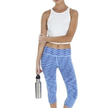 Abstract Workout Pants Blue