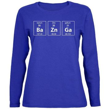 Chenier Bazinga Periodic Table Womens Long Sleeve T Shirt