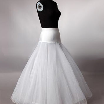Hot Sale A Line Petticoats for Wedding Dress Bridal Tulle Under Skirt Hoop Online One Size