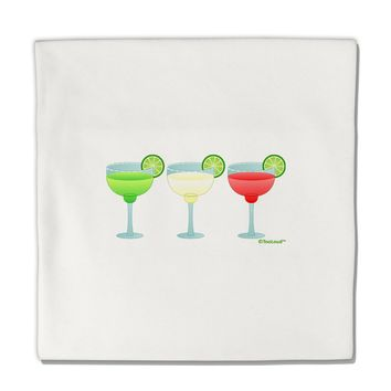 "Margaritas - Mexican Flag Colors - Cinco de Mayo Micro Fleece 14""x14"" Pillow Sham by TooLoud"