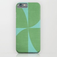 mod petals - teal and green iPhone & iPod Case by Her Art