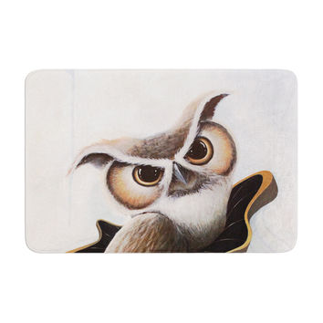 "Graham Curran ""Lucid June"" Brown Owl Memory Foam Bath Mat"