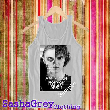 American Horror Ash Grey _ Tank Top Men's Size S - XXL Design By : sashagreystore