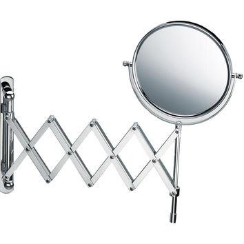 DWBA Wall Mounted Cosmetic Makeup Magnifying Swivel & Extendable Mirror. Chrome