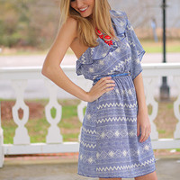 Port Day Dress, Blue