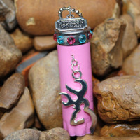 Rear view mirror charm,Browning jewelry for your car, browning deer head, Redneck Woman, Pink shotgun shell