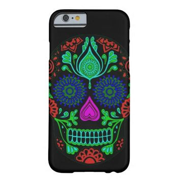 Vintage Colorful Sugar Skull iPhone 6 Case