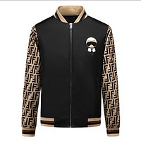 Fendi Men Zip Up Jacket