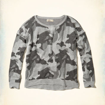 Girls Patterned Crewneck Sweater | Girls Tops | HollisterCo.com
