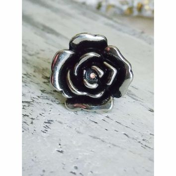 Large Flower Statement Stretch Ring