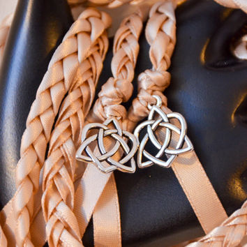 Champagne Celtic Heart Knot Wedding Hand Fasting/ Binding Cord ~ Hanfasting ~ Handbinding ~ Irish ~ Tying the Knot