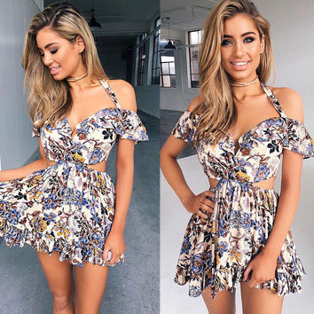 Fashion Women Off Shoulder Bodycon Casual Party Evening Cocktail Mini Dress USA