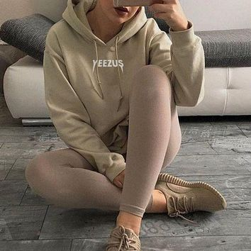 Casual Letter Sweatshirt Hoodie Shirt Top Sweater