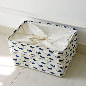 Cotton Linen Storage Box Clothing Storage Basket [6268653382]