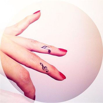 4pcs Tiny Music Note Tattoo   Inknart Temporary Tattoo   Wrist Quote Tattoo Body Sticker Fake Tattoo Wedding Tattoo Small Tattoo