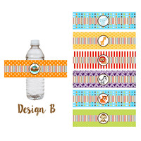 Noah's Ark Party Water Bottle Labels | Adore By Nat