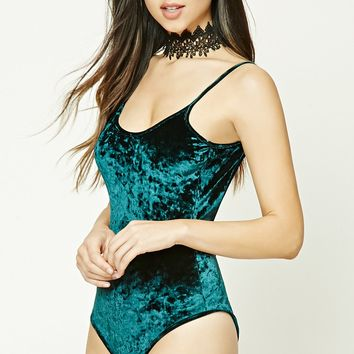 Crushed Velvet Bodysuit
