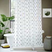 Anchor Shower Curtain - Midnight
