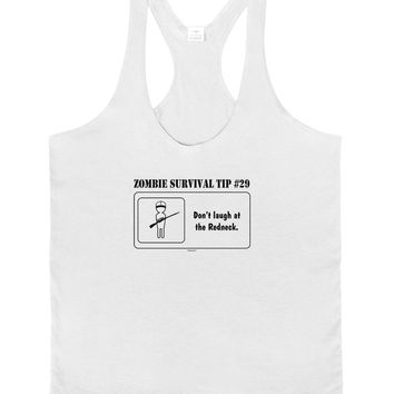 Zombie Survival Tip # 29 - Redneck Mens String Tank Top