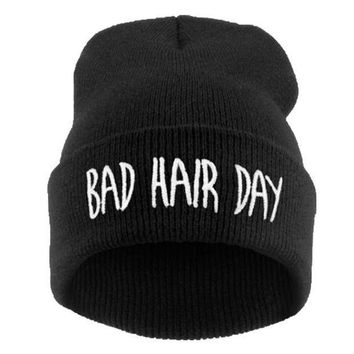 PEAPUNT Winter Hat Men 21 Colour Bad Hair Day 2016 Fashion Casual Gorros Elastic Bonnet Skullies Knitted Hats For Women Beanies
