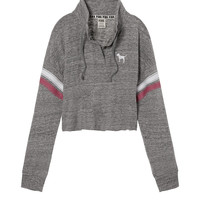 Cropped Varsity Quarter-Snap - PINK - Victoria's Secret