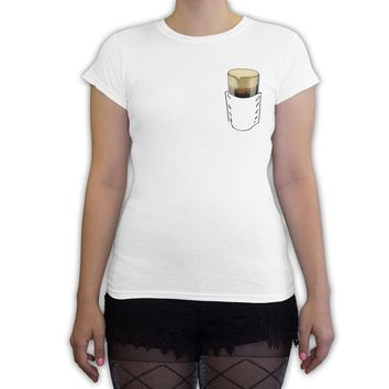Function St. Patrick's Day Faux Pocket Stout Women's Fashion T-Shirt