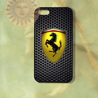 Ferrari -iPhone 5 , 5s, 5c, 4s, 4 case,Ipod touch, Samsung GS3, GS4 case - Silicone Rubber or Hard Plastic Case, Phone cover