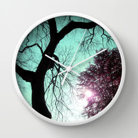 Wishing Tree Wall Clock by Suzanne Kurilla