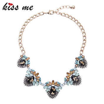 New Design Retro Alloy Geometric Large Statement Necklace 2016 Fashion Jewelry for Women Choker Necklace