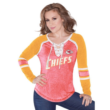 Kansas City Chiefs Touch by Alyssa Milano Women's Pick Six Long Sleeve T-Shirt – Red