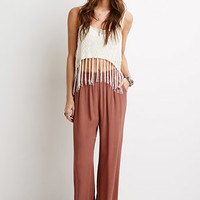 Crinkled Palazzo Pants