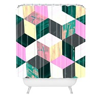 Dash and Ash Sunday Vibes Shower Curtain