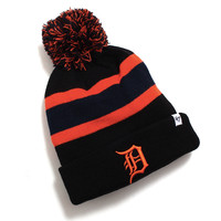 Detroit Tigers Breakaway Cuff Knit Pom Beanie Black