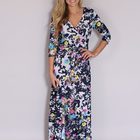 Raindrops on Roses Maxi Dress