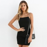 Summer Women's Fashion Spaghetti Strap Sexy Backless One Piece One Piece Dress [763523924084]