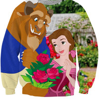 Perez Hilton Beauty and the Beast Crewneck Sweatshirt